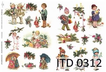Decoupage paper ITD D0312M