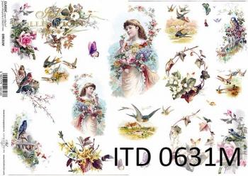 Decoupage paper ITD D0631M