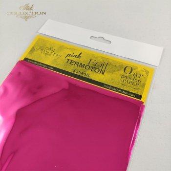 metallic foil Termoton * strong pink