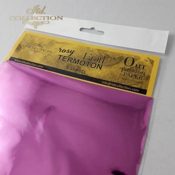 metallic foil Termoton * rosy