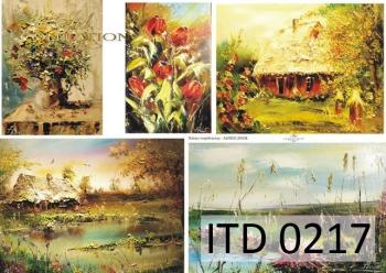 Decoupage paper ITD D0217