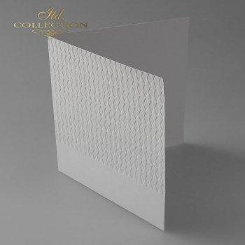 Card Base BDK-022 * light gray, diamonds