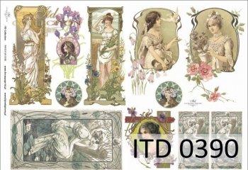 Decoupage paper ITD D0390M