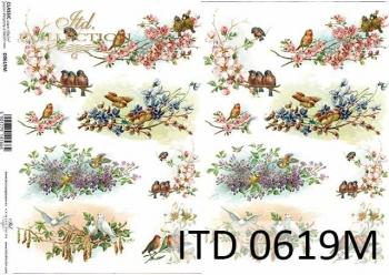 Decoupage paper ITD D0619M
