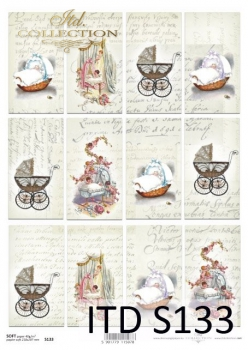 Decoupage paper Soft ITD S0133