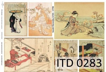 Decoupage paper ITD D0283