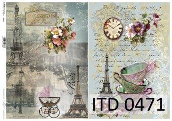 Decoupage paper ITD D0471M
