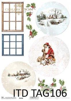 Cardboard for Christmas balls TAG0106