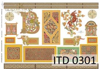 Decoupage paper ITD D0301M