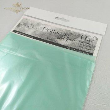 Pearl foil * mint green