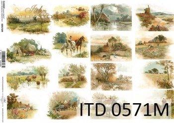 Papier decoupage ITD D0571M