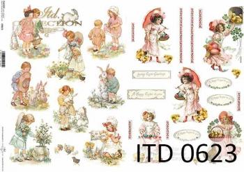 Papier decoupage ITD D0623