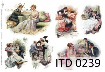 Papier decoupage ITD D0239