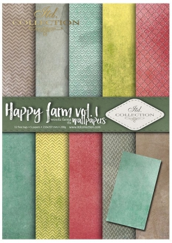 .Papier do scrapbookingu SCRAP-039 ''Happy farm vol. 1''