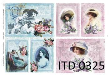 Papier decoupage ITD D0325