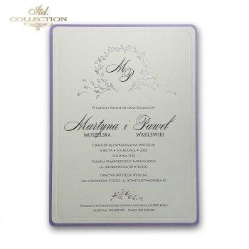 Zaproszenia ślubne / zaproszenie 2070s