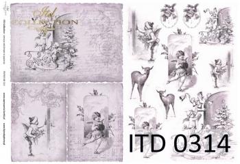 Papier decoupage ITD D0314