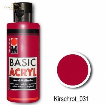 Farba akrylowa Basic Acryl 80 ml Kirschrot 031