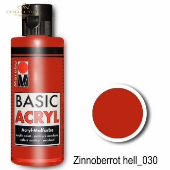 Farba akrylowa Basic Acryl 80 ml Zinnoberrot 030