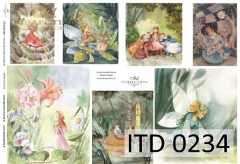 Papier decoupage ITD D0234M