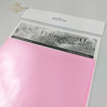 Folia perłowa * jasno różowa