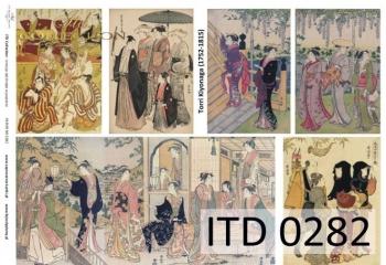 Papier decoupage ITD D0282