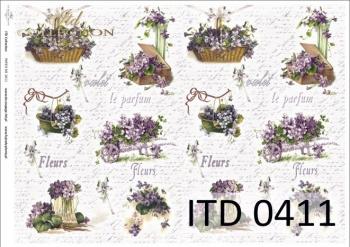 Papier decoupage ITD D0411