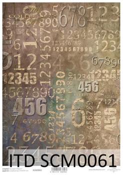 Papier scrapbooking SCM0061