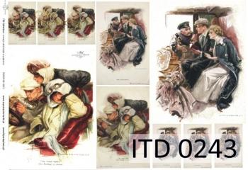 Papier decoupage ITD D0243