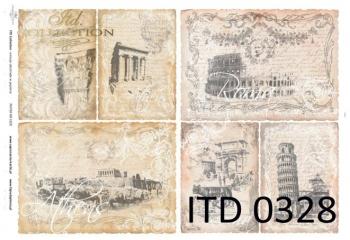 Papier decoupage ITD D0328M