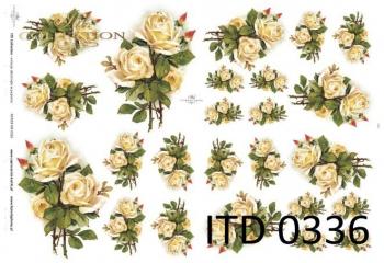 Papier decoupage ITD D0336