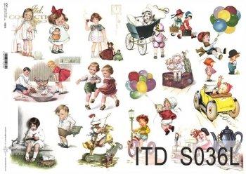 Papier decoupage SOFT ITD S0036L