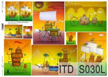 Papier decoupage SOFT ITD S0030L
