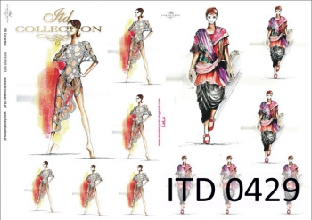 Papier decoupage ITD D0429