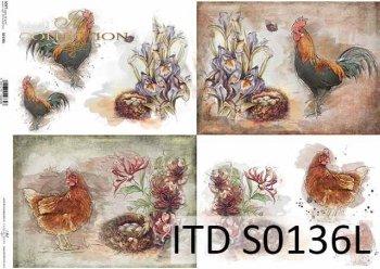 Papier decoupage SOFT ITD S0136L