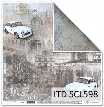 Papier scrapbooking SCL598