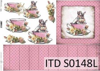 Papier decoupage SOFT ITD S0148L