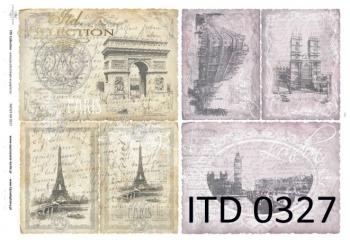 Papier decoupage ITD D0327M
