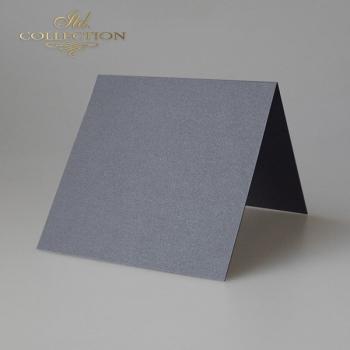 Baza do kartki BDK-028 132x132 mm * ciemny srebrny opalizujący