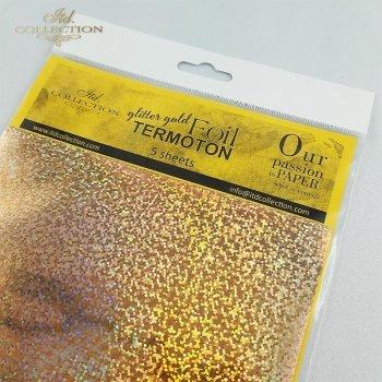 Folia metaliczna Termoton * brokatowa złota