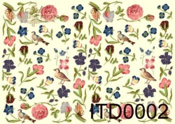 Papier decoupage ITD D0002