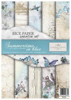Zestaw kreatywny ITD RS008 Lato w kolorze niebieskim