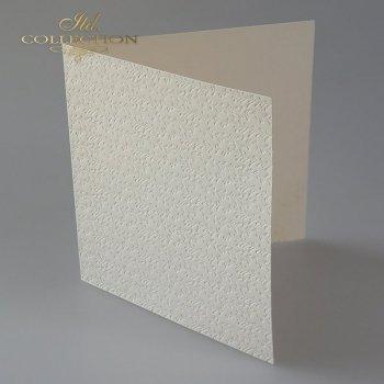 Baza do kartki BDK-021 - 150x150 mm * KREMOWA-kwiatki