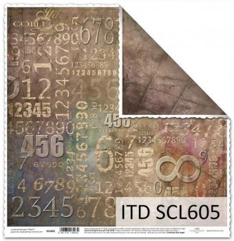 Papier scrapbooking SCL605