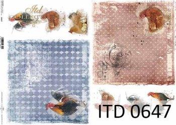 Papier decoupage ITD D0647