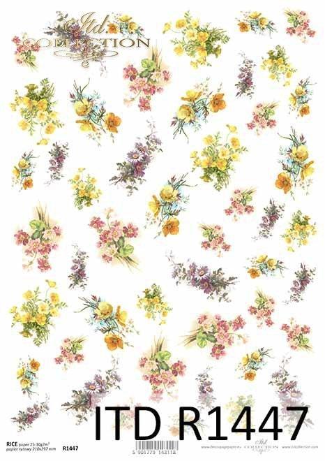 kwiaty, prymulki, kaczeńce, drobne elementy*flowers, primulas, marigolds, small elements