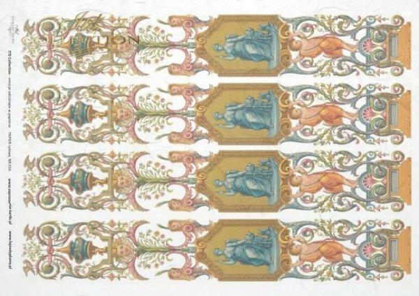 Reispapier Decoupage - Schmuck, Jahrgang*rýžový papír decoupage - ozdoby, Vintage*rice paper decoupage - ornaments, Vintage
