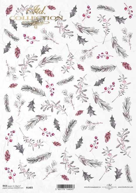 Navidad, arreglos florales de Navidad, conos de pino, fruta de espino*Weihnachten, Weihnachtsblumenanordnungen, Kiefernkegel, Weißdornfrucht*Рождество, рождественские цветочные композиции, сосновые шишки, плоды боярышника