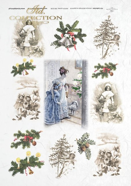 decoupage-scrapbooking-mixed-media-Christmas-tree-decorations-winter