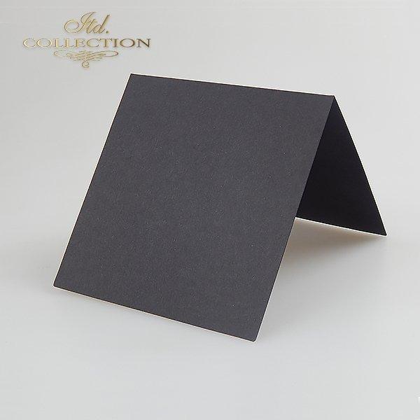 Baza do kartki kolor czarna. Format kartki stworzony do koperty 140x140 mm